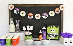 Super Cute Monster Milk Bar done by the fab @bloomdesigns see why Milk is so important for growing kids!