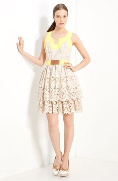 Milly 'Pippa' Laser Cut Tiered Dress