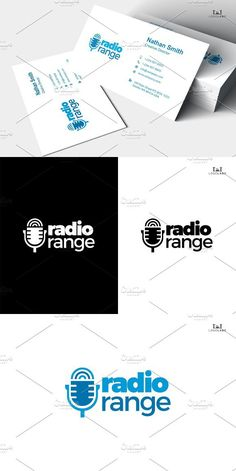 Logo of mic and signal symbol, will be perfect for you radio station company, record label, or anything that related to sound / music --- Logo Features: - Business Card Design, Business Cards, Radio Design, Music Logo, Logo Design Inspiration, Layout Design, Cool Designs, Branding, Logos