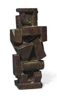 Alberto Giacometti (1901-1966)  Composition cubiste, homme