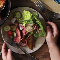 Steak Salad with Horseradish Dressing - omit the potatoes, and consider Skinny Taste's sauce - 3Tbs light sour cream, 1Tbs prepared horseradish, 1Tbs dijon mustard, 1Tbs chives, salt and pepper