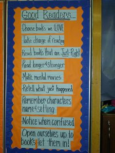 Good Readers....put it on the door for them to see every time they walk by the library!
