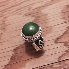 """Sterling Silver & Malachite Ring Stamped """"925 MA-136"""". Manufacturers ID  This is not a stock photo. The image is of the actual article that is being sold  Size: 8  Sterling silver is an alloy of silver containing 92.5% by mass of silver and 7.5% by mass of other metals, usually copper. The sterling silver standard has a minimum millesimal fineness of 925.  All my jewelry is solid sterling silver. I do not plate.   Hand crafted in Taxco, Mexico.  Will ship within 2 days of order. Jewelry…"""