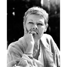Judi Dench  Totally pinned this because I have this same expression when I think