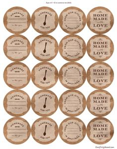 Printable Canning Jar Labels | My Frugal Home