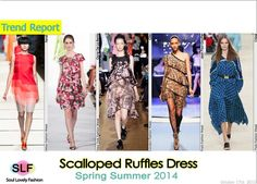 Scalloped Ruffles #Dress #Fashion Trend for Spring Summer 2014 #fashiontrends2014 #spring2014 #trends #ruffles