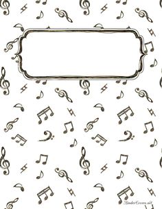 Music Doodle Binder Cover - LOTS of Free Binder Covers on this site. Notebook Cover Design, Notebook Covers, Colouring Pages, Adult Coloring Pages, Diy Cahier, Goodnotes 4, Binder Cover Templates, Binder Covers Free, School Binder Covers