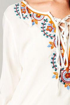 Boho Embroidered Lori Tunic