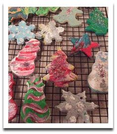 Christmas Ornaments Made with Salt Dough
