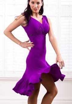 Latin Ballroom Dance Dresses | ... dancemo dance fashion clearance disc chrisanne frill edge latin dress