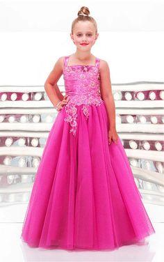 Fuchsia Princess Floor-length Shoulder Straps Dress [Dresses 9273] - $137.00 : - KissPromGirl.com