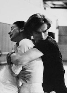 Margot Fonteyn & Rudolf Nureyev photographed in rehearsal by Bert Stern c.1965.
