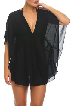 Find a perfect black kaftan cover up at Tara Grinna. Shop for exclusive bathing suits and cover ups that flatter all body types! Swimsuit Cover Ups, Swimsuit Tops, Black Kaftan, Designer Swimwear, Black Swimsuit, Style Me, Swimsuits, One Piece, How To Wear