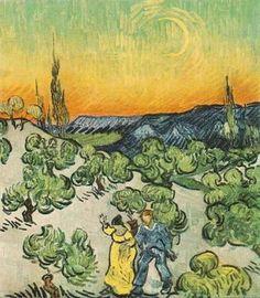 Paysage au croissant de lune, par Vincent Van Gogh