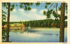 Bar Harbor on Gull Lake near Nisswa, MN, Postcard ca. 1950