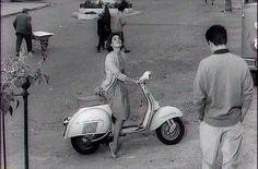 Italian Vintage Photographs ~ #Italy #Italian #vintage #photographs ~ 1958 Piaggio #Vespa GS 160