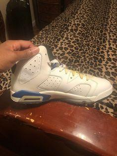 ea0bfa9f2a0 Air Jordan 6 Retro Bg (Gs) Sport Blue - Size 7  fashion