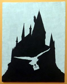 harry potter castle silhouette - Google 搜尋                                                                                                                                                      More
