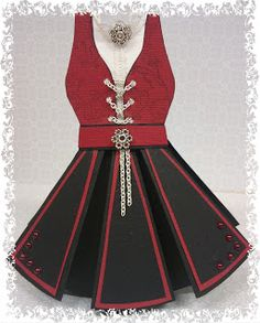Margareth: Bunadskort Card Making Tips, Dress Card, Scandi Style, Embellished Dress, Paper Toys, Diy Cards, Cardmaking, Birthday Cards, Fashion Dresses