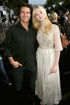 June 8, 2011    Tom Cruise and Elle Fanning arrive at the premiere of Super 8 at Regency Village Theatre on June 8, 2011 in Westwood, California.