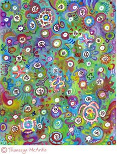 Watercolor Pencil Abstract Art