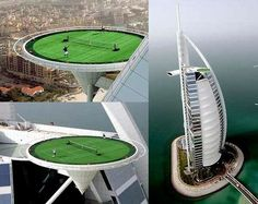 Burj Al Arab of Dubai- in Arab Emirates This hotel classified as a 7-star is the tallest hotel in the world.