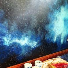 Galaxy wall mural bu ChinaDollArt