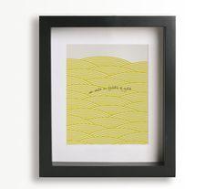 Fields Of Gold / Sting - Music Lyric Art Print - home decor, wall decor, living room, bedroom, wall art, anniversary, wedding gift. $19.95, via Etsy.