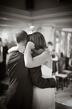Karen and Steve enjoy the first dance as their wedding day draws to a close.