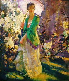 ⊰ Posing with Posies ⊱ paintings of women and flowers - Peder Severin Kroyer   Marie in the Garden