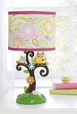 Owls Tree Flowers Baby Kids Girls Lamp Bedroom Nursery Teen Room Pink Decor