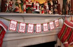 I'm still busy making chocolates, but took a few minutes to make and hang a banner on my mantel. I love the use of the word believe  at Chri...