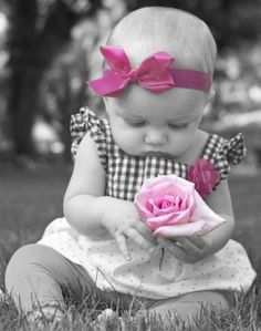 Like a pretty pink Princess!!! Bebe'!!! Love pink early on!!!