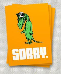 3er Set Sorry Postkarten von Icke von jenapaul auf Etsy