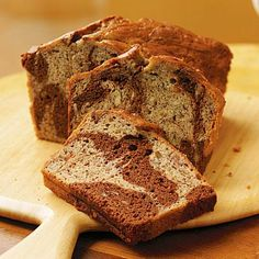 Healthy Marbled-Chocolate Banana Bread Recipe. Re-pin now, check later. #healthybreakfasts