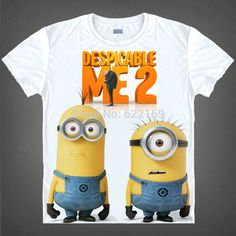 Hot Sale Despicable Me the minions crew-neck shirts Printed T-shirts for self-expressio, anime souvenirs tees christmas gift //Price: $US $17.59 & FREE Shipping //     #hoodie