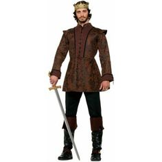 Medieval King Coat Men's Costume