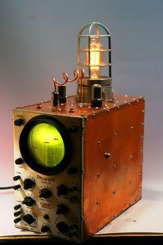 Copper Steampunk Machine Age Submarine Sonar Oscilloscope Desk or Table Lamp | eBay