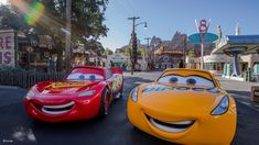 """Disneyland Tips - Summer 2018 - when you head on down the highway to Disney California Adventure park, you'll be able to meet one of the newest stars from Disney·Pixar's """"Cars Cruz Ramirez. Cruz is joining Lightning McQueen and Mater in Cars Land, Disney World Theme Parks, Disney Parks Blog, Walt Disney World, Disney Cars, Disney Trips, Disney Pixar, Lightning Mcqueen, Disney Hollywood Studios, Disney California"""
