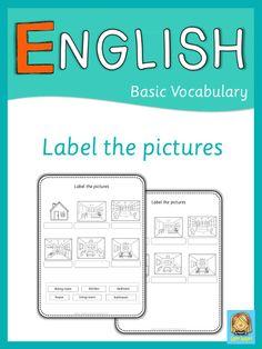 Set of label it worksheets for ESL students.