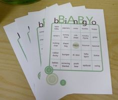 baby games for baby showers printable