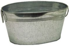 Galvanized oval tubs perfect for holding flower for Oval tub sizes