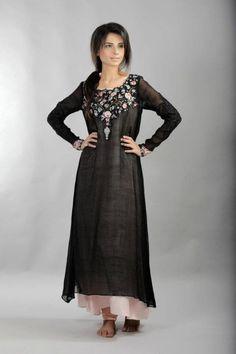 pakistani black and pink dress
