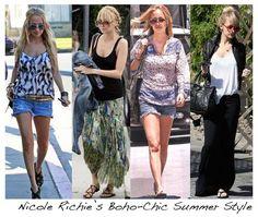 Boho Chic Clothing | Nicole Richie Boho-Chic Summer Style | birdieandwilma