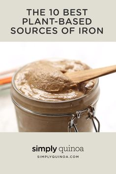 A list of the 10 best vegan sources of iron that don't involve eating meat or dairy products! This list is full of healthy plant-based, iron rich foods and ingredients in case you have an iron deficiency! Foods With Iron, Foods High In Iron, Iron Rich Foods, Vegan Recipes Videos, Best Vegan Recipes, Real Food Recipes, Yummy Food, Iron Enriched Foods, Vegan Iron Sources