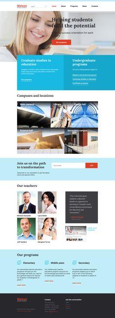 Online Higher Education Website Template