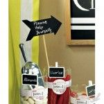 Candy Buffet Signs - Wooden Black Board Stick in Directional Arrow Shape - Natural Finish (Bulk 6 Signs)