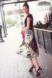 Inseparable Printed Midi Skirt by Oscar Garcia-Lopez   I would love this skirt!