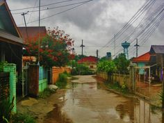 Street in Sop Ruak, #Thailand after a storm