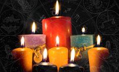 Descubre el color de las velas y su significado. Cada color se utiliza para una coda diferente: amor, salud, dinero...